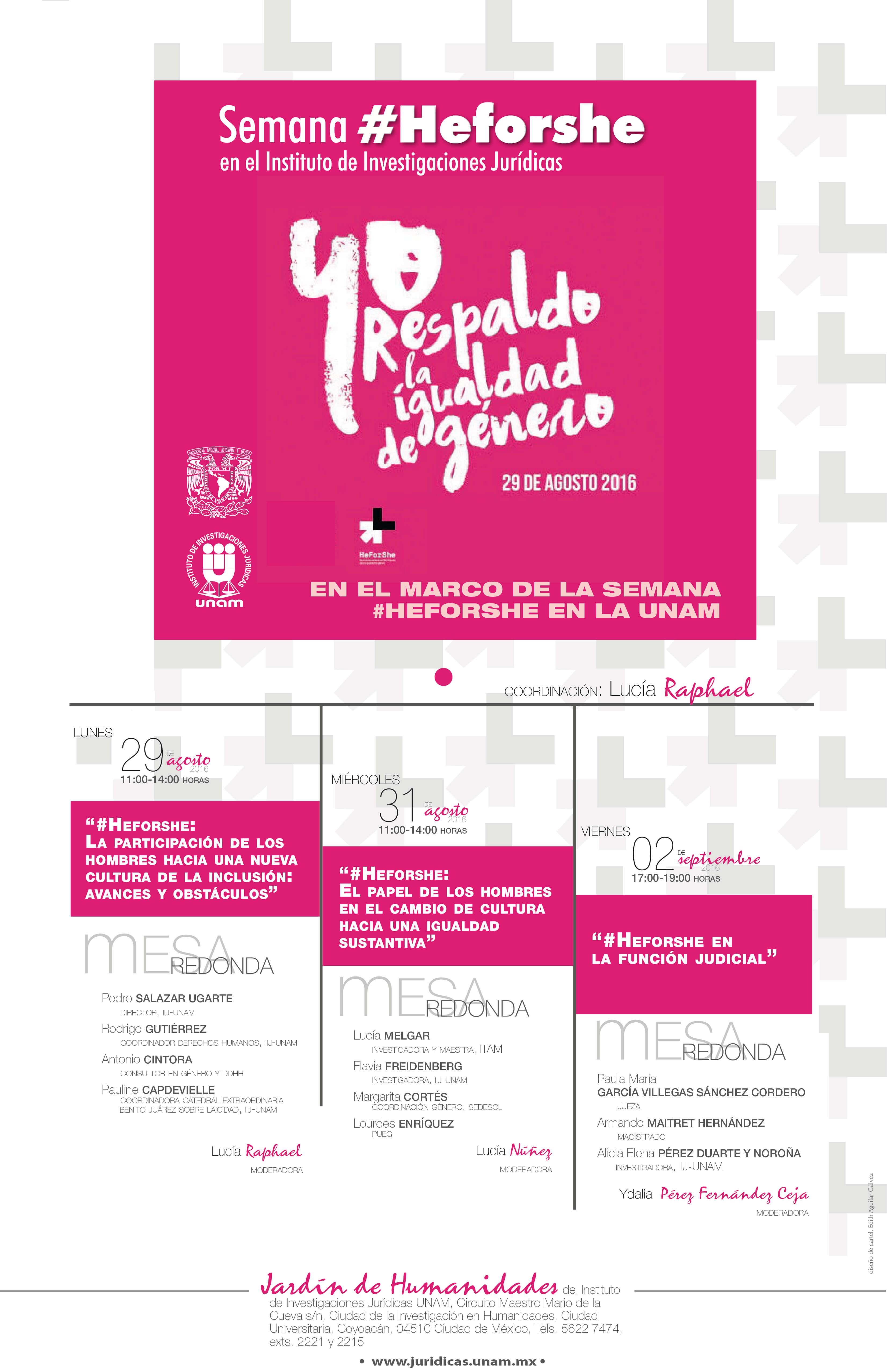 Semana #HeforShe en el Instituto de Investigaciones Jurídicas en el marco de la semana #HeforShe en la UNAM