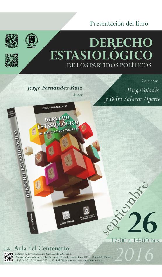 """Presentación del libro """"Derecho Estasiológico de los Partidos Políticos"""""""