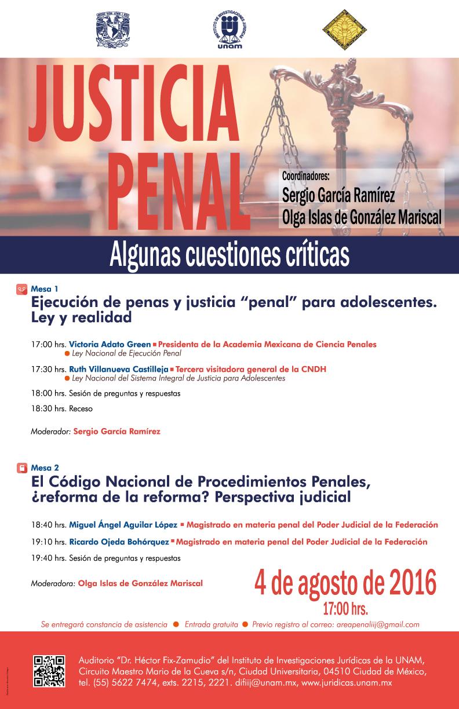 Mesa Redonda Justicia penal: Algunas cuestiones críticas