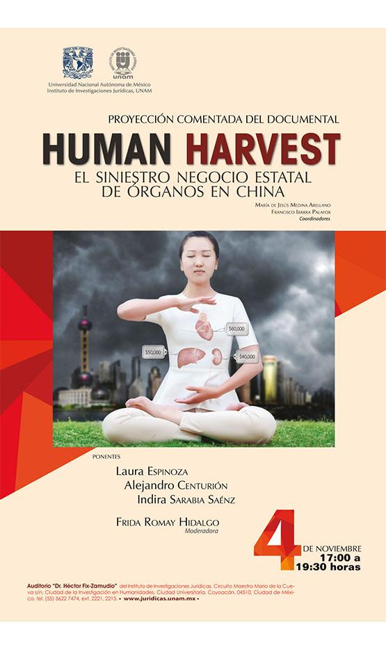 """Proyección del documental """"Human Harvest. Cosecha humana, el siniestro negocio estatal de órganos en China"""""""