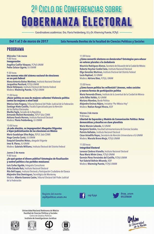 2° Ciclo de Conferencias sobre Gobernanza Electoral
