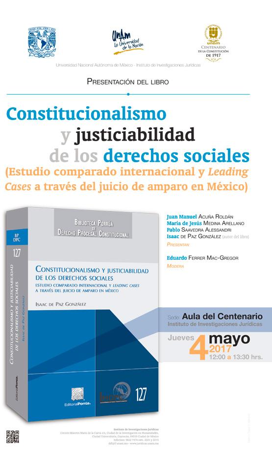 Constitucionalismo y justiciabilidad de los derechos sociales (Estudio  comparado internacional y Leading Cases a través del juicio de amparo en  México)