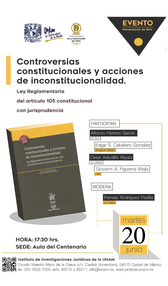 Controversias constitucionales y acciones de inconstitucionalidad.  Ley Reglamentaria del artículo 105 constitucional con jurisprudencia
