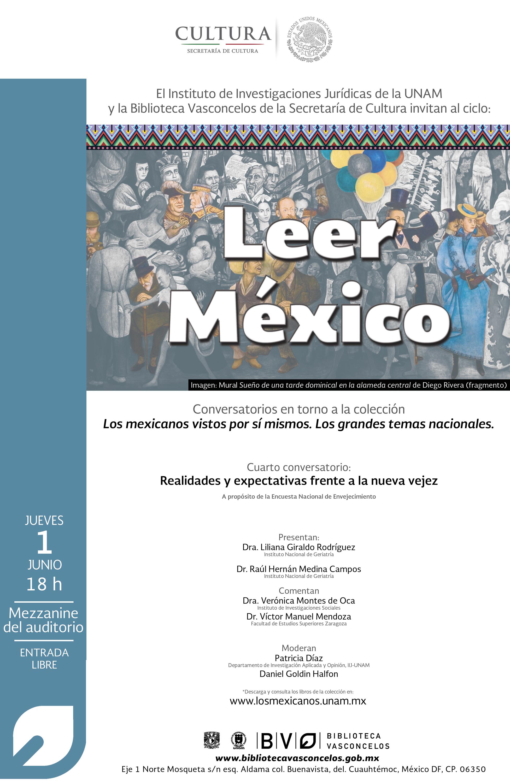 Ciclo Leer México: Realidades y expectativas frente a la nueva vejez