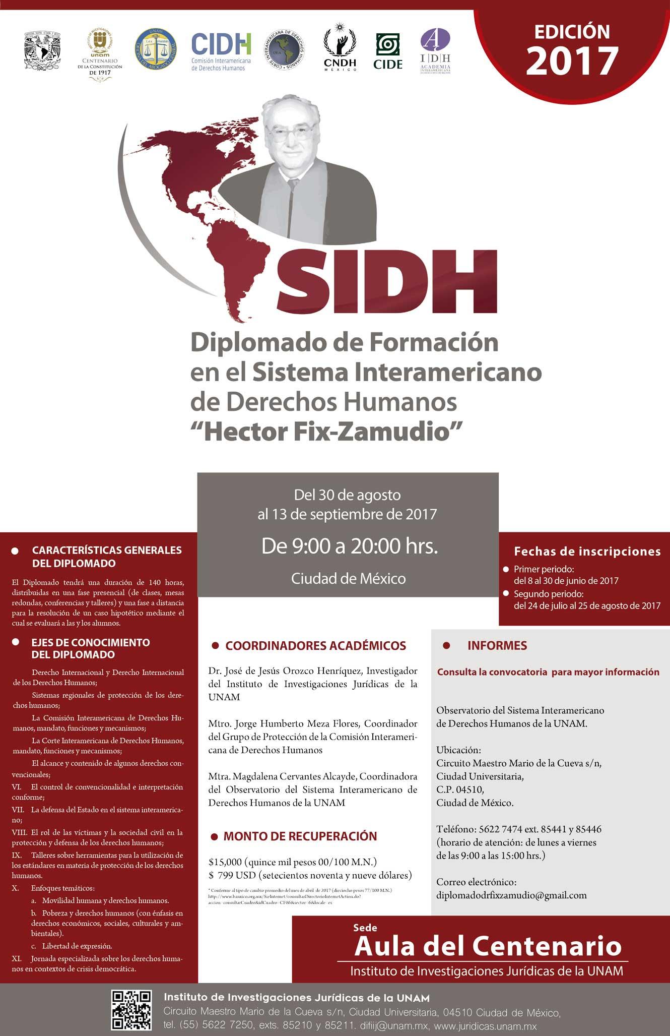 """Formación en el Sistema Interamericano de Derechos Humanos """"Héctor Fix-Zamudio"""""""