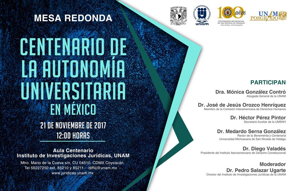 Centenario de la autonomía universitaria en México