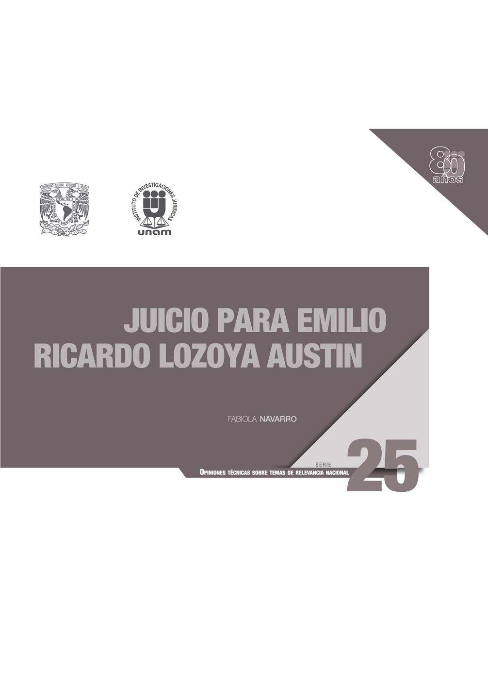 Juicio para Emilio Ricardo Lozoya Austin
