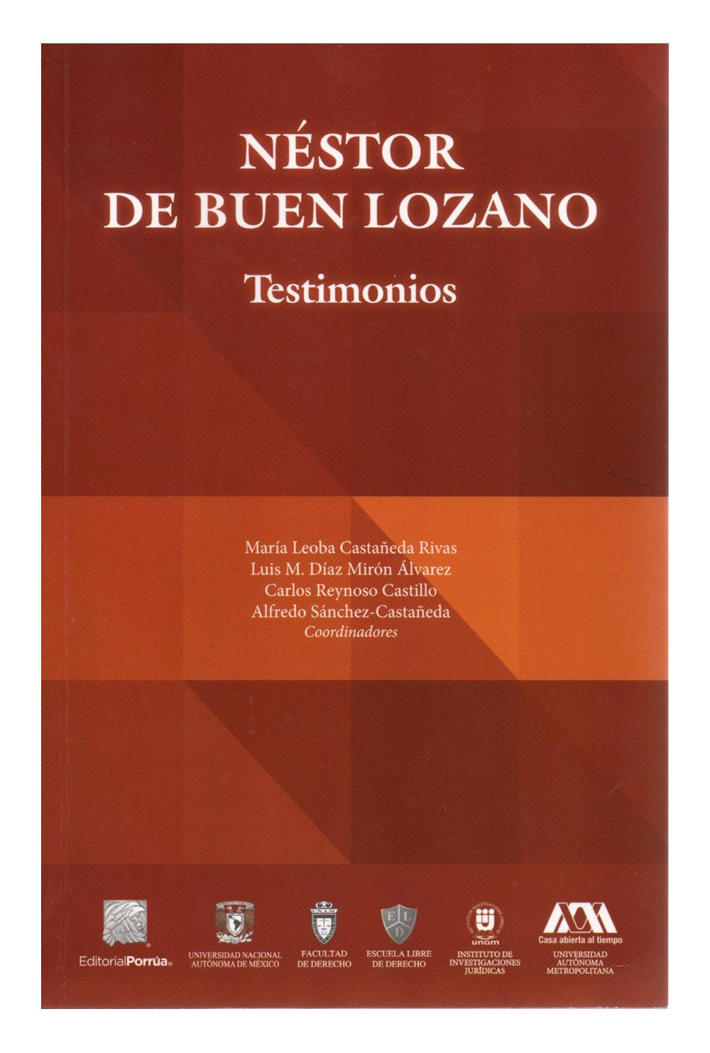 Néstor de Buen Lozano. Testimonios