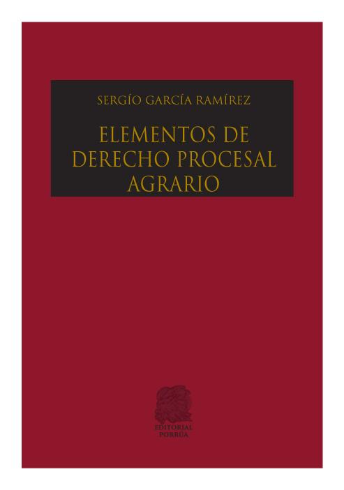 Elementos de derecho procesal agrario